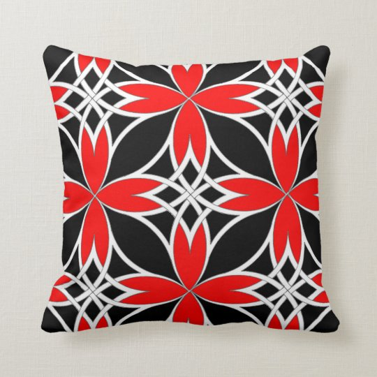 Mirrored Celtic ( Red Invert ) Throw Pillow