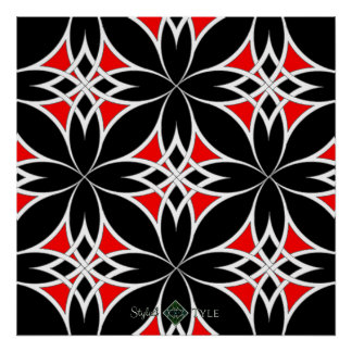 Mirrored Celtic ( Red ) Poster