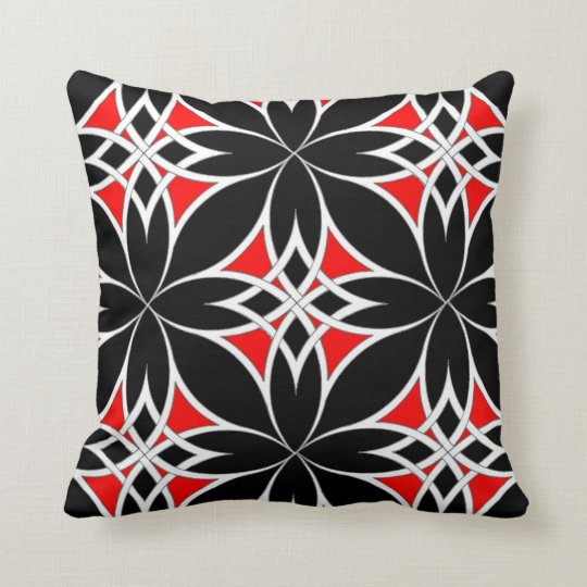 Mirrored Celtic ( Red ) Throw Pillow
