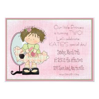 """Mirrored Cutie Invitation 5"""" X 7"""" Invitation Card"""