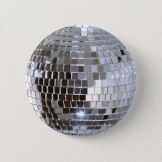 Mirrored Disco Ball 1 2 Inch Round Button