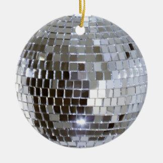 Mirrored Disco Ball 1 Ceramic Ornament