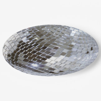 Mirrored Disco Ball 1 Paper Plate