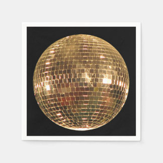 Mirrored Disco Ball 2 Disposable Napkin