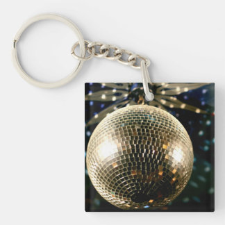 Mirrored Disco Ball 3 Double-Sided Square Acrylic Keychain