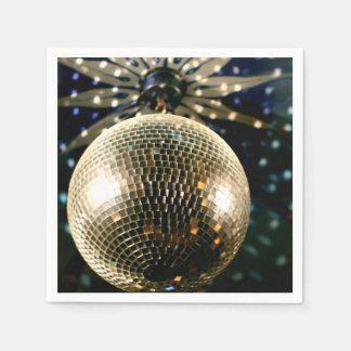 Mirrored Disco Ball 3 Paper Napkin