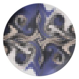 Mirrored Gnarl Melamine Plate