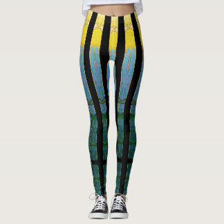 Mirrored Island Flowers Leggings