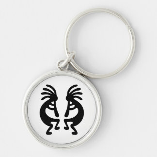 Mirrored Kokopelli Keychain