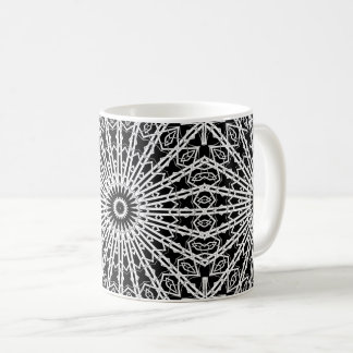 Mirrored Looking Glass Mandala Coffee Mug