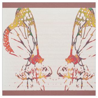 Mirrored Monarchs Fabric