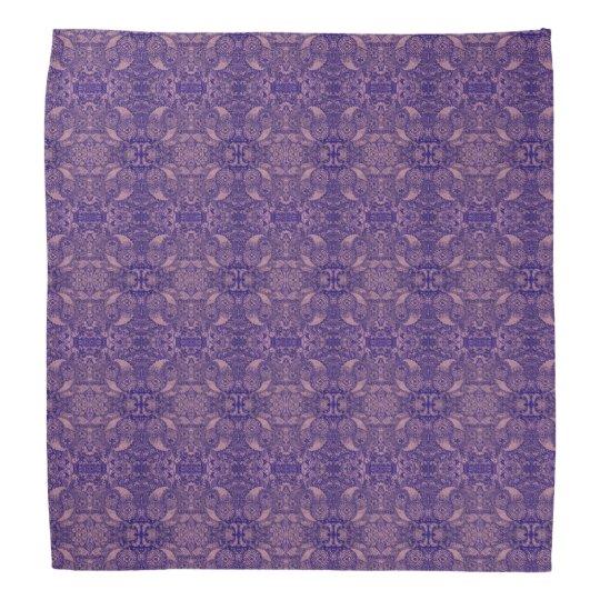 Mirrored Purple Paisley Nature Head Kerchiefs