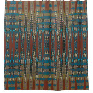 Mirrored South Western Rust Turquoise Mosaic