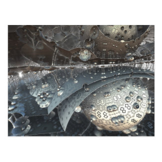 mirrored spheres fractal postcard