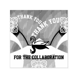 Mirrored Swan Thank You Fountain Business Stamp
