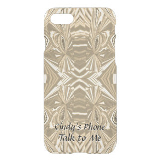 Mirrors - Gold Tone Abstract with Your Text iPhone 8/7 Case