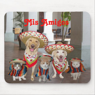 Mis Amigos Mouse Pad