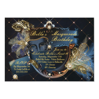 Mis Quince Anos, Masquerade Party Invitations
