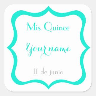 Mis Quince stickers- Customize Square Sticker