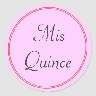 Mis Quince stickers in pink
