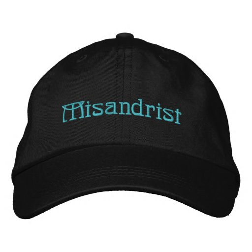 Misandrist (TM) Personalized Adjustable Hat Black Embroidered Hats
