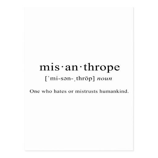 Misanthrope [Definition]