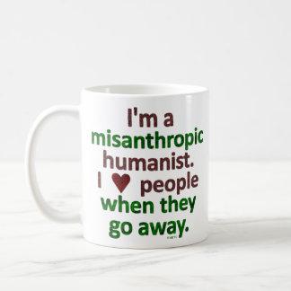 Misanthropic Humanist Loner Satire Basic White Mug