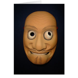 Misawa Noh Mask Greeting Card