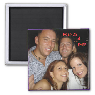 Misc Pix Wed Etc 053, FRIENDS, 4, EVER Square Magnet