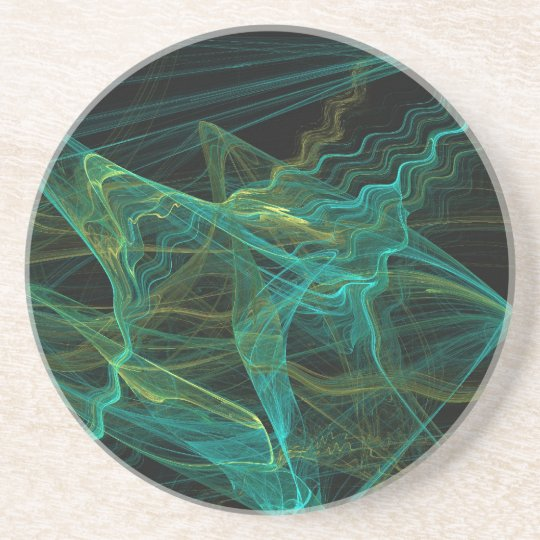 Misc Series-20---Teal Black Coaster 1 of   colours