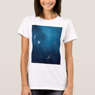 Miscellaneous - Arctic Tern & Blue Sky Pattern T-Shirt