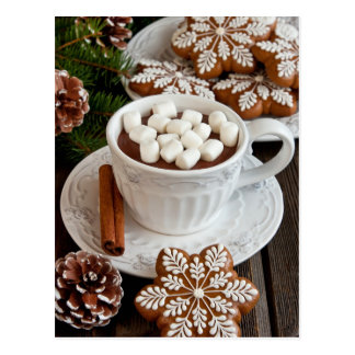Miscellaneous - Cocoa With Marshmallows One Postcard