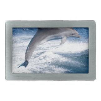 Miscellaneous - Dolphins Jump Fourteen Rectangular Belt Buckle