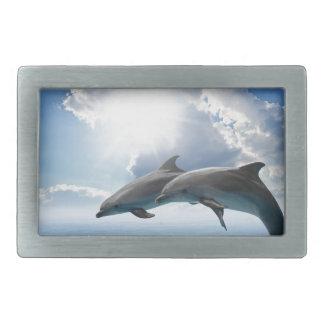 Miscellaneous - Dolphins Jump Furnace Rectangular Belt Buckles