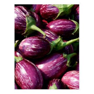 Miscellaneous - Eggplant/Aubergine & Leaves Postcard