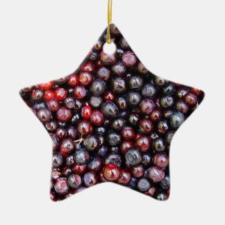 Miscellaneous - Huckleberries Pattern Ceramic Star Ornament