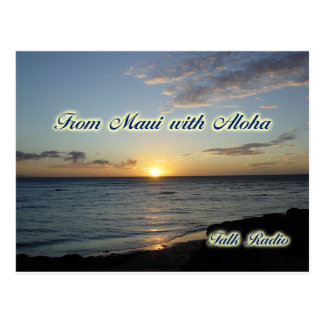 Miscellaneous Items - From Maui with Aloha Postcard