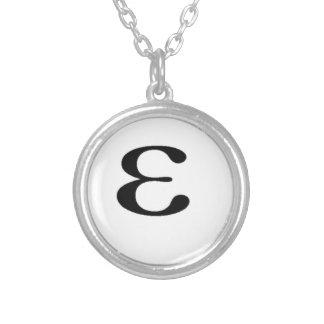 Miscellaneous - (Little) Pattern Epsilon Silver Plated Necklace