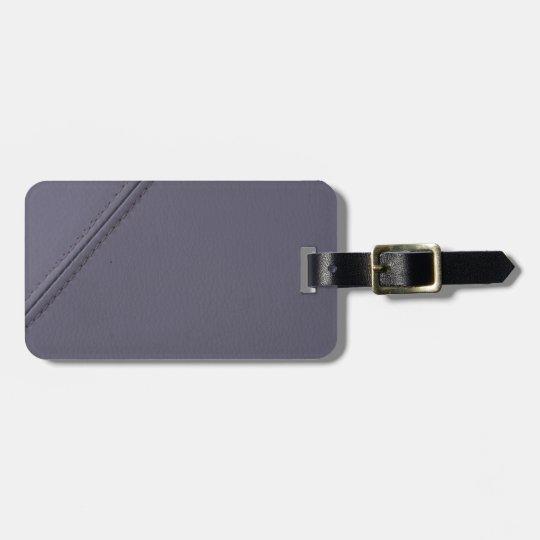 Miscellaneous - Purple Minimalist/Grey Leather Bag Tag
