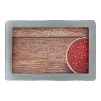 Miscellaneous - Red Two Caviar Rectangular Belt Buckles