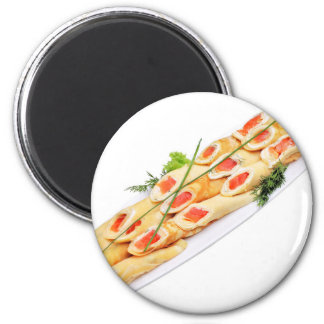 Miscellaneous - Salmon Pancakes Five 2 Inch Round Magnet