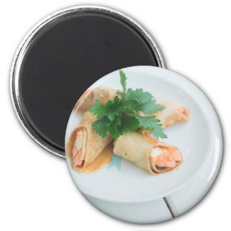 Miscellaneous - Salmon Pancakes Seven 2 Inch Round Magnet