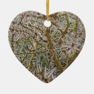Miscellaneous - Thorn Bush Pattern Ceramic Heart Ornament