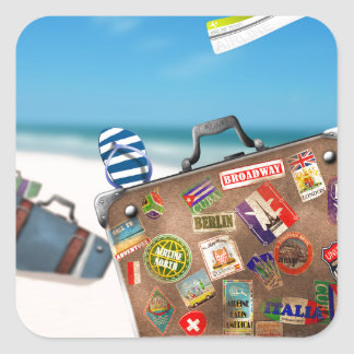 Miscellaneous - Traveler' S Suitcase One Square Sticker