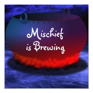 """Mischief is Brewing"" Halloween Invitation"