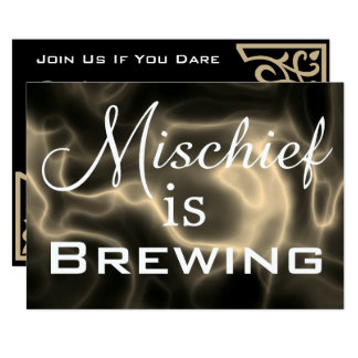 """Mischief is Brewing"" Halloween Party Invitation"
