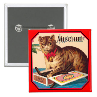 Mischief the Cat - Vintage Ad Buttons