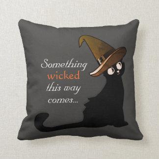 Mischievous Black Cat - Pillow