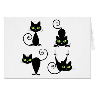 Mischievous kitties card