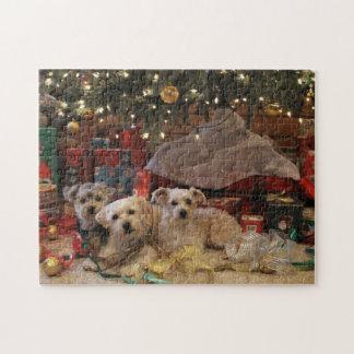 Mischievous Puppy Christmas Puzzle